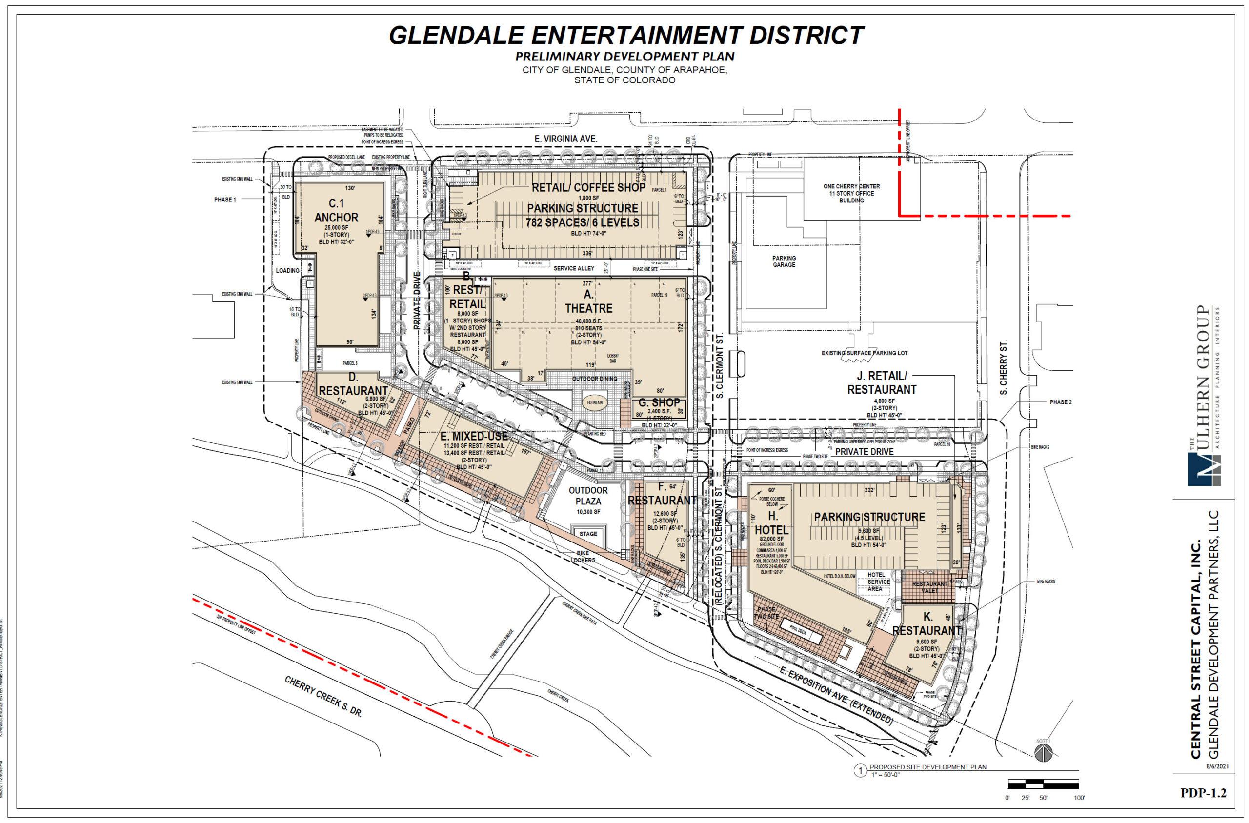 Glendale Site Plan